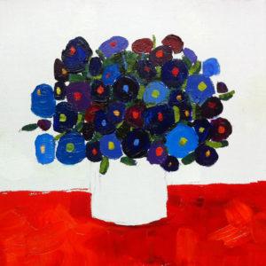 Blue bouquet - 30x30 cm