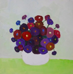 Blue flower - 30x30 cm