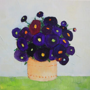 Purple flowers - 30x30 cm