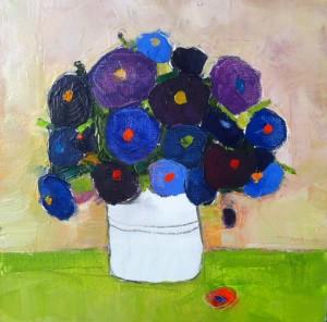 Blue poppy - 30x30 cm