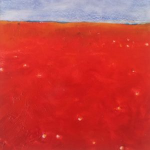 Red landscape - 24x24 cm