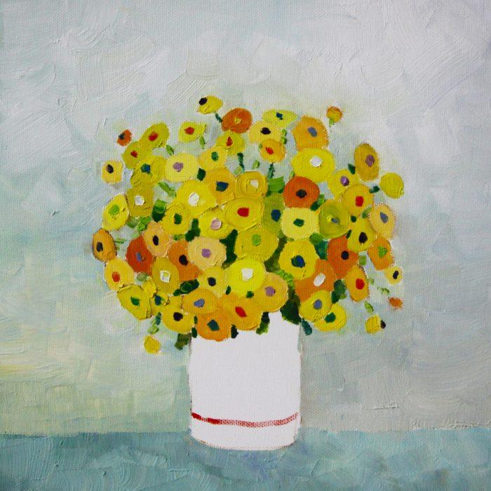 Yellow flowers - 30x30 cm