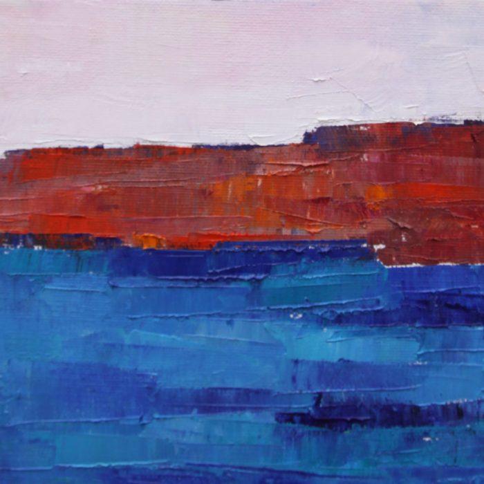 Red rocks - 30x50 cm