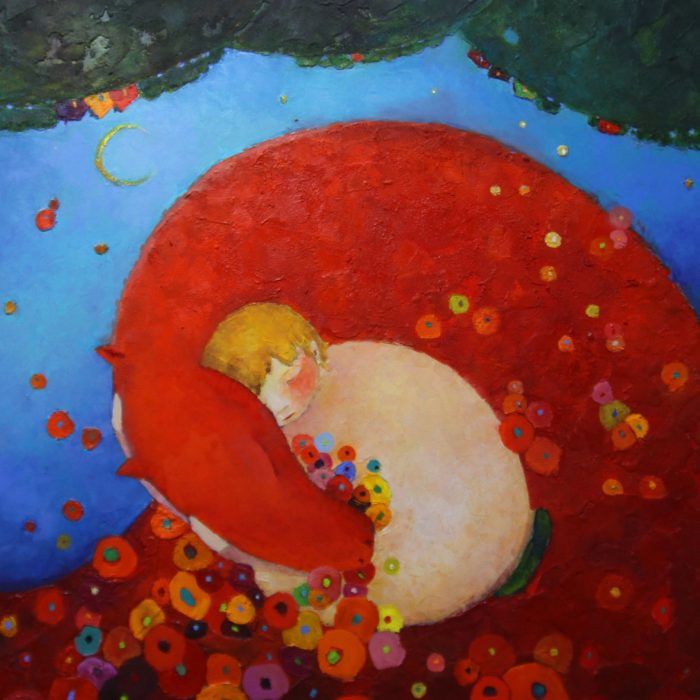 Dream with the red dragon - 100x100 cm - 2013