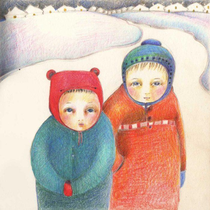 Winter day - 20x20 cm - 2011